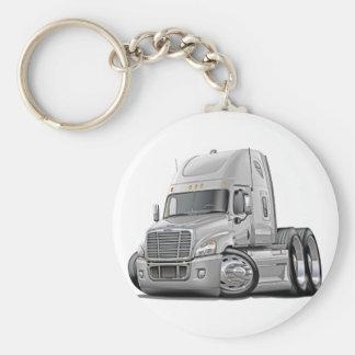 Freightliner Cascadia White Truck Keychain