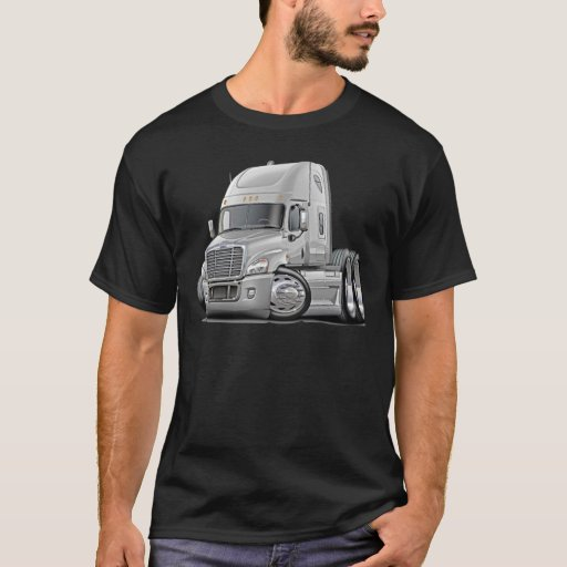 Zazzle Freightliner Cascadia White Truck T-shirt
