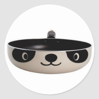 Freír la panda pegatina redonda
