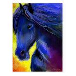Freisian horse painting postcards