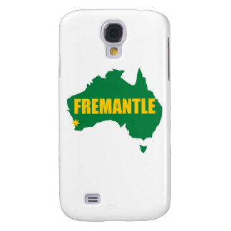 Fremantle Green and Gold Map Samsung Galaxy S4 Case