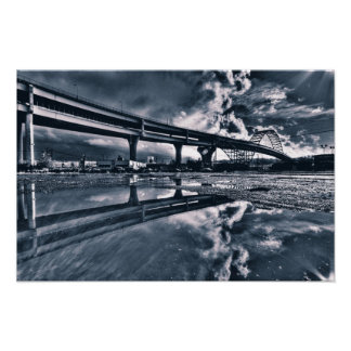 Fremont Bridge Canvas Posters