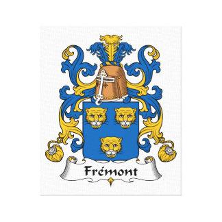 Fremont Family Crest Canvas Print