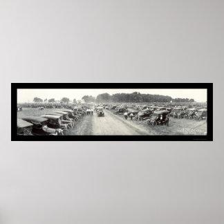 Fremont, foto 1916 del salón del automóvil del NE Póster