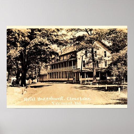 Fremont, Indiana Hotel Hazenhurst on Clear Lake Posters