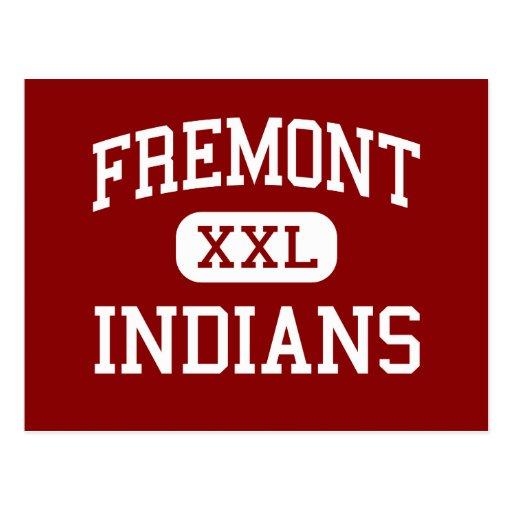 Fremont - indios - alto - Sunnyvale California Tarjeta Postal