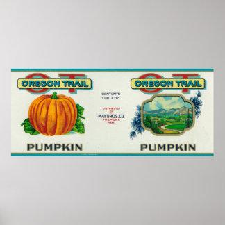 Fremont, NebraskaTrail Pumpkin Can Label Poster