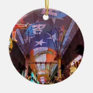 Fremont Street Experience Ceramic Ornament