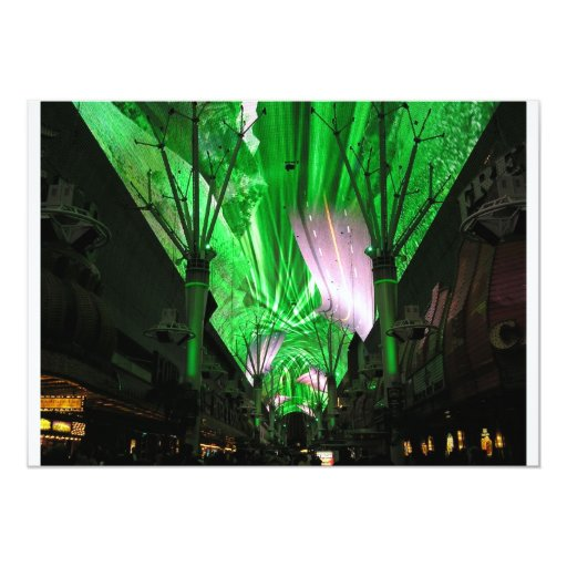 Fremont Street Experience 5x7 Paper Invitation Card