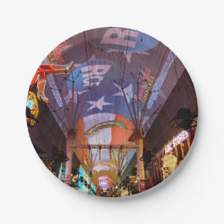 Fremont Street Experience Paper Plate