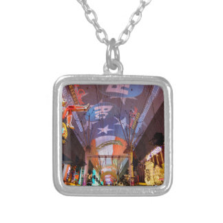Fremont Street Experience Silver Plated Necklace