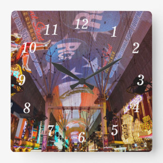 Fremont Street Experience Square Wall Clock