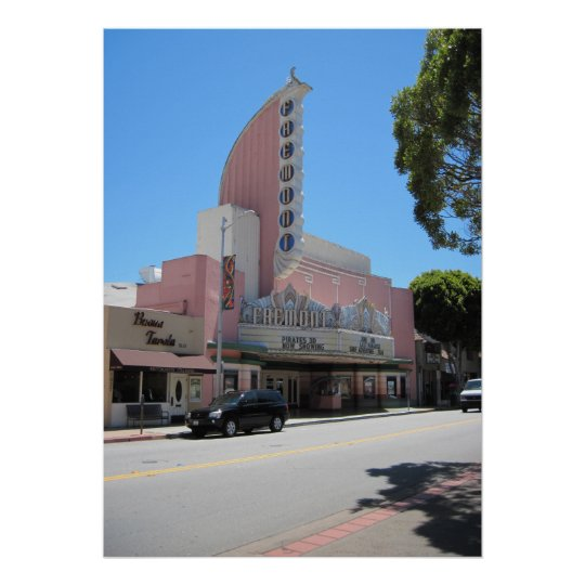 Fremont Theater 2011 San Luis Obispo Poster Zazzle Com