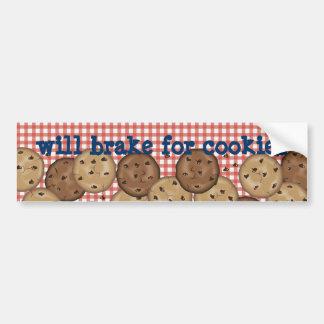 Frenará para las galletas pegatina para auto