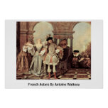 French Actors By Antoine Watteau Posters