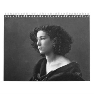 French Actress Sarah Bernhardt by Félix Nadar 1864 Calendar