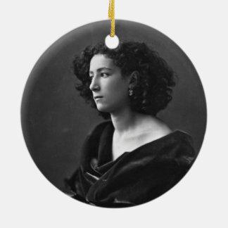 French Actress Sarah Bernhardt by Félix Nadar 1864 Ceramic Ornament