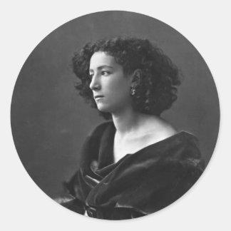 French Actress Sarah Bernhardt by Félix Nadar 1864 Classic Round Sticker