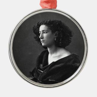 French Actress Sarah Bernhardt by Félix Nadar 1864 Metal Ornament