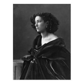 French Actress Sarah Bernhardt by Félix Nadar 1864 Postcard