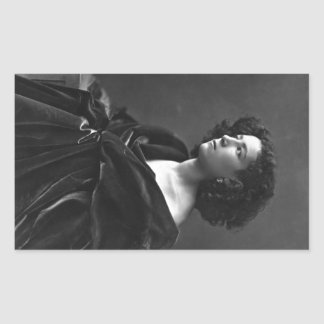 French Actress Sarah Bernhardt by Félix Nadar 1864 Rectangular Sticker