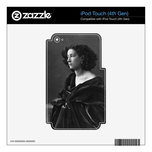 French Actress Sarah Bernhardt by Félix Nadar 1864 Decal For iPod Touch 4G