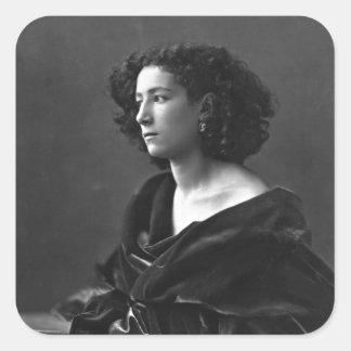 French Actress Sarah Bernhardt by Félix Nadar 1864 Square Sticker