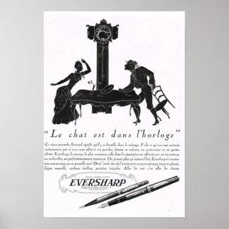 French Advertisement Eversharp Poster