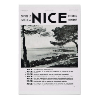 French Advertisement Nice resort Posters