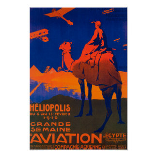 French Airline Promotional Poster