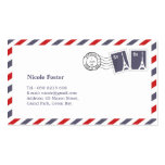 French Airmail with Stamps Double-Sided Standard Business Cards (Pack Of 100)