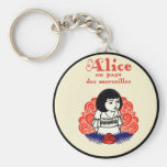 French Alice Book Cover Keychain