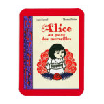 French Alice Book Cover Magnet