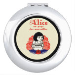 French Alice Book Cover Makeup Mirror