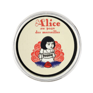 French Alice Book Cover Pin