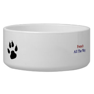 French All The Way Dog Water Bowl