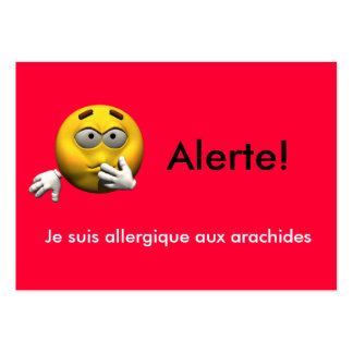 French Allergy Info card - Peanut