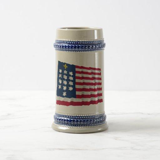 French Alliance Waving Flag Coffee Mugs