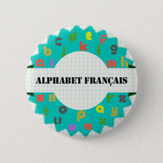 French Alphabet Round Buttons