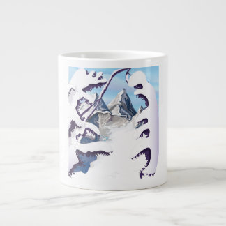 French Alps Giant Coffee Mug