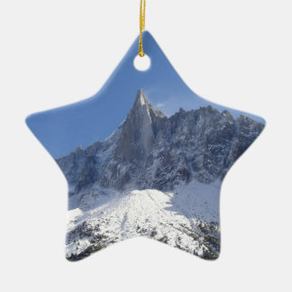 French Alps Double-Sided Star Ceramic Christmas Ornament