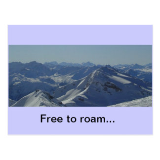 French Alps postcard