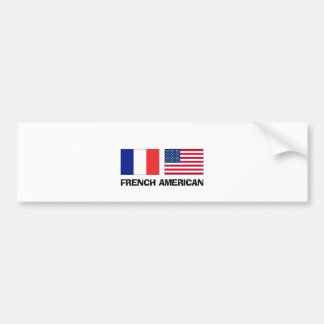 French American Car Bumper Sticker