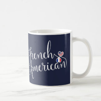 French American Entwined Hearts Mug