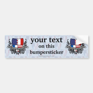 French-American Shield Flag Bumper Sticker