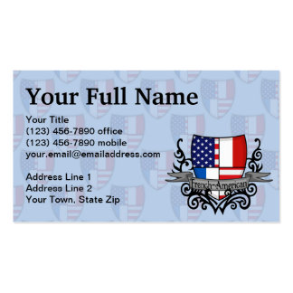 French-American Shield Flag Business Card Templates