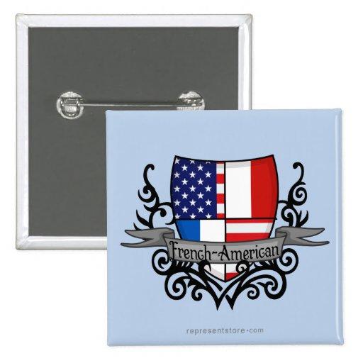 French-American Shield Flag Pins