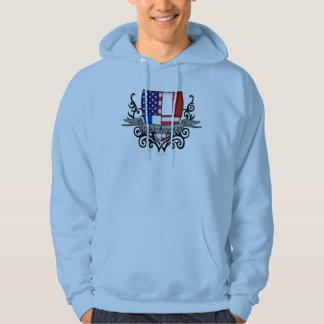 French-American Shield Flag Hoodie