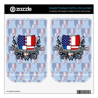 French-American Shield Flag FreeAgent GoFlex Skins