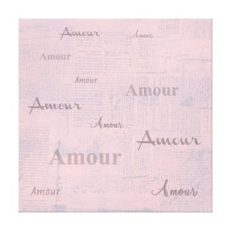 French Amour Canvas Print